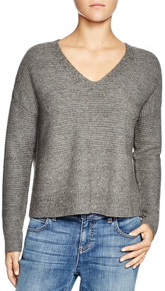 Eileen Fisher Ribbed V-Neck Sweater $328 thestylecure.com