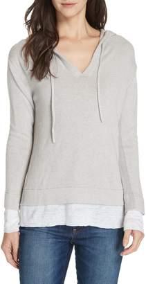 Brochu Walker Contrast Detail Cotton & Cashmere Hoodie