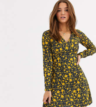 Wednesday's Girl mini tea dress in bold floral print