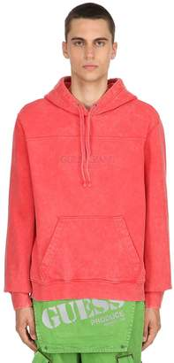 GUESS Washed Cotton Sweatshirt Hoodie