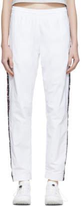 Champion Reverse Weave White Elastic Cuff Side Stripe Lounge Pants