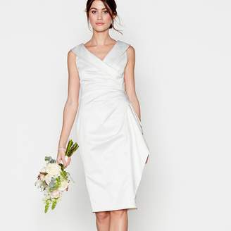 Debut Ivory 'Samantha' Bardot Neck Knee Length Bridal Dress