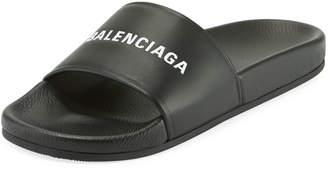 Balenciaga Men's Logo Pool Slide