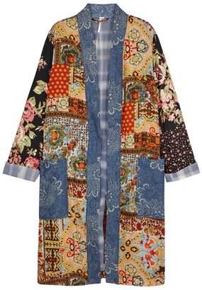Free People Songbird Patchwork Rayon Kimono
