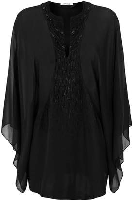 Roberto Cavalli sheer sequin embellished blouse
