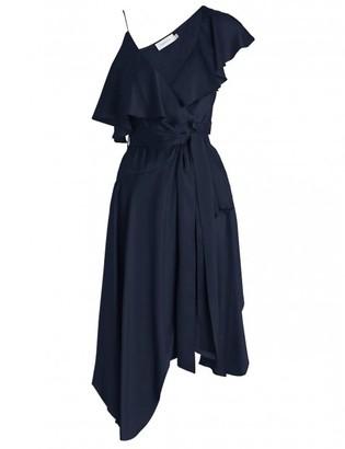 Zimmermann Sueded Asymmetric Wrap Dress