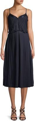 ABS by Allen Schwartz Pleated Midi Dress