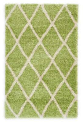 Unique Loom Luxe Trellis 5' x 8' Shag Area Rug in Light Green