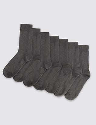 Marks and Spencer 7 Pack Cotton Blend Socks