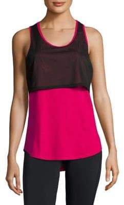 Copper Fit Pro Mesh Overlay A-Line Tank Top