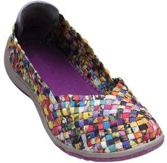 CATALOG CLASSICS Women's Woven Shoes - Sassy Stretch Elastic Loafers
