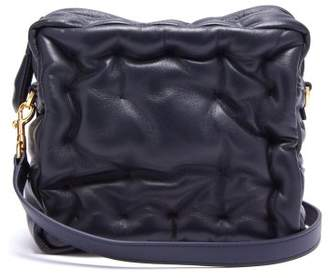 Anya Hindmarch Chubby Cube Leather Cross Body Bag - Womens - Navy