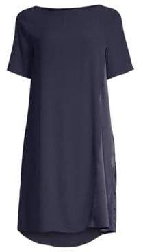 Eileen Fisher Silk Bateau Neck Dress