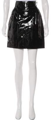 Alexandre Vauthier Patent Leather Mini Skirt