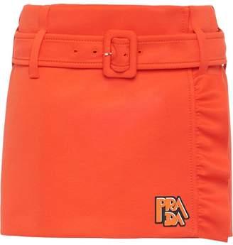 Prada ruffled detail mini skirt