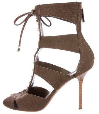 Louis Vuitton Cutout Ankle Boots
