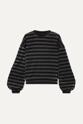 RtA Magnus Striped Lurex Sweatshirt - Black