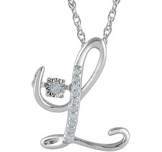 L necklace shopstyle fine jewelry love in motion diamond accent sterling silver l pendant necklace aloadofball Gallery