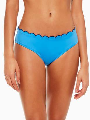Kate Spade Fort tilden contrast scalloped hipster bikini bottom