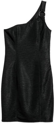 H&M One-shoulder Dress - Black