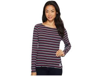 U.S. Polo Assn. Yarn-Dye Long Sleeve T-Shirt Women's T Shirt