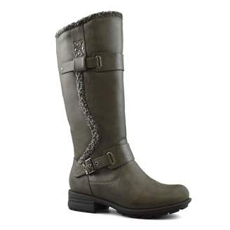 d9ccf1ad96a0 Comfy Moda Fashion Women s Winter Ice Snow Boots with Wide Calf Wide Toe  Box Adjusted Calf