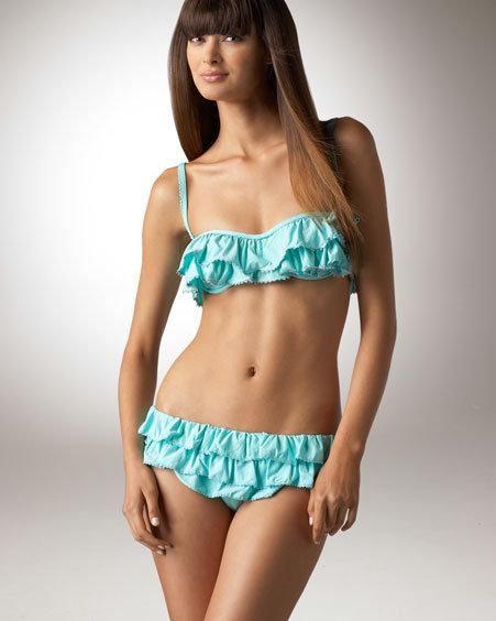 Juicy Couture Ruffled Bikini Bottoms