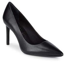 Calvin Klein Ronna Point Toe Leather Pumps