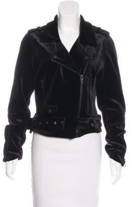 Blank NYC Velvet Biker Jacket