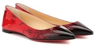 Christian Louboutin Exclusive to Mytheresa – Ballalla patent leather ballet flats