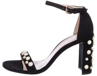 Stuart Weitzman Morepearls Ankle Strap Sandals