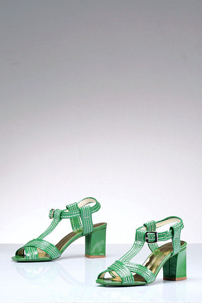 Marc by Marc Jacobs T-Strap Patent Sandal in Green-FINAL SALE