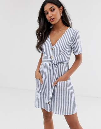 Abercrombie & Fitch button down dress in stripe