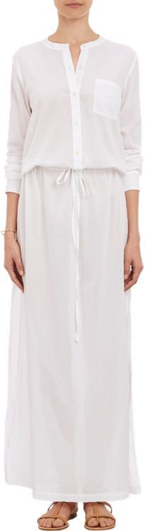 Theory Women's Cotton Voile Beach Maxi Dress-White