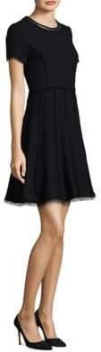 Rebecca Taylor Fit-&-Flare Tweed Dress