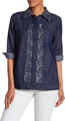 Anna Sui Bird & Rose Jacquard Denim Jacket
