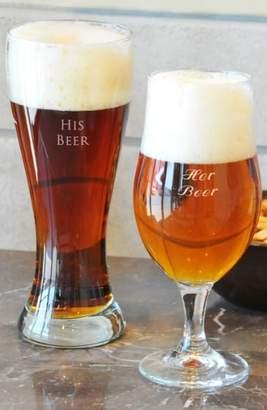 Cathy's Concepts 'His Beer & Her Beer' Monogram Pilsner Glasses