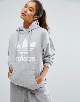 Adidas adidas Originals Gray Trefoil Hoodie $65 thestylecure.com