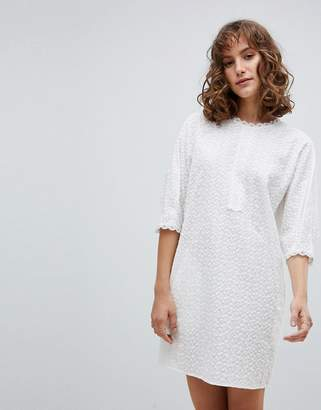 Vanessa Bruno Ath Shift Dress in Broderie Anglaise