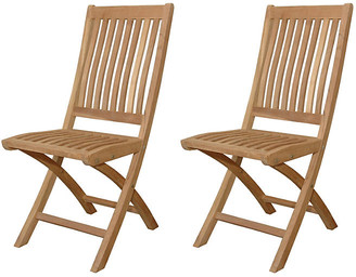 Tropico Folding Chairs - Set of 2 - Anderson Teak