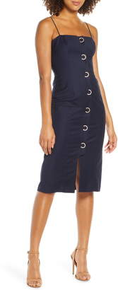 Finders Keepers Rae Crescent Button Sleeveless Sheath Dress