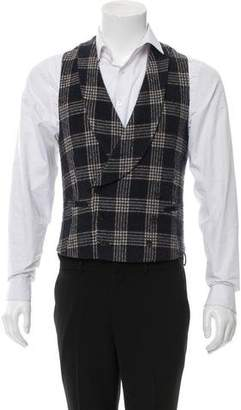 Suitsupply Plaid Wool-Blend Suit Vest