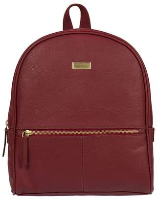 At Debenhams Cultured London Ruby Red Renee Fine Leather Backpack