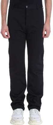 Balenciaga Black Cotton Chino Pants