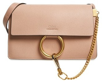 Chloe Small Faye Goatskin Leather Crossbody Bag - Beige $1,490 thestylecure.com