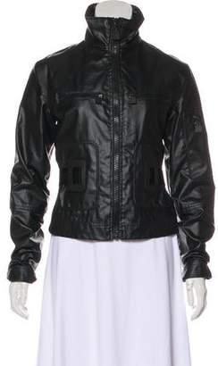 Chanel Coated Zip-Up Jacket