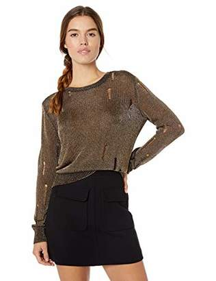 GUESS Women's Long Sleeve Angeleica Destroy Sweater,S