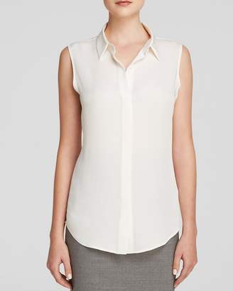 Theory Tanelis Silk Georgette Top