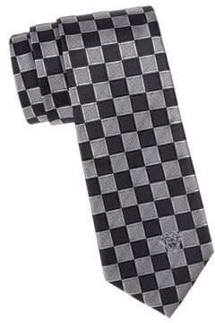 Versace Checkered Silk Tie