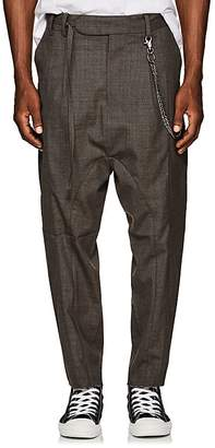 Chapter MEN'S CHAIN-EMBELLISHED WOOL-BLEND DROP-RISE TROUSERS